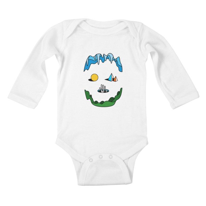 Skull Kids Baby Longsleeve Bodysuit by Arrivesatten Artist Shop