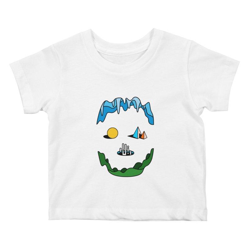 Skull Kids Baby T-Shirt by Arrivesatten Artist Shop