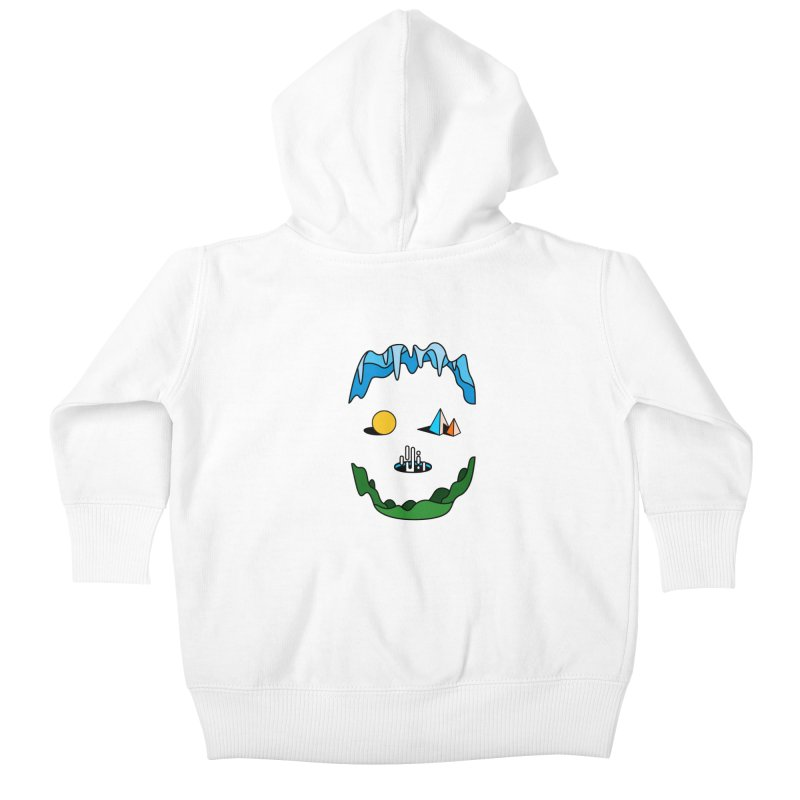 Skull Kids Baby Zip-Up Hoody by Arrivesatten Artist Shop