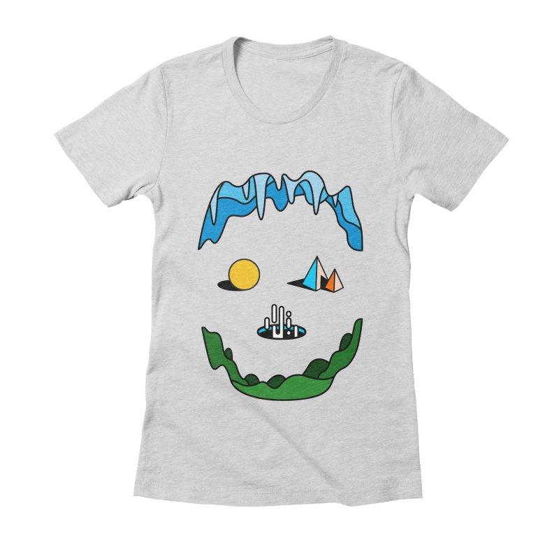 Skull Women's Fitted T-Shirt by Arrivesatten Artist Shop