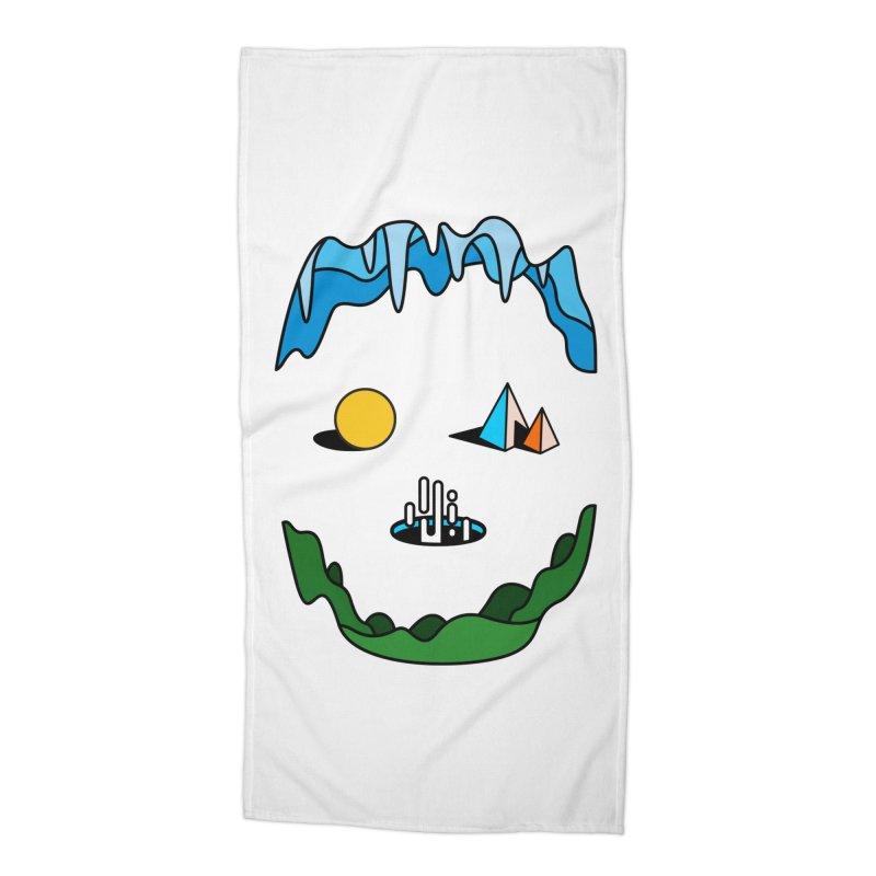 Skull Accessories Beach Towel by Arrivesatten Artist Shop