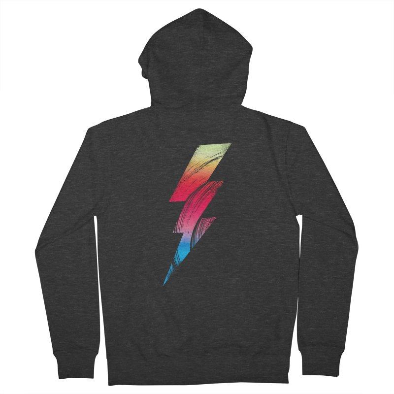 Neon Lightning Men's Zip-Up Hoody by Arrivesatten Artist Shop
