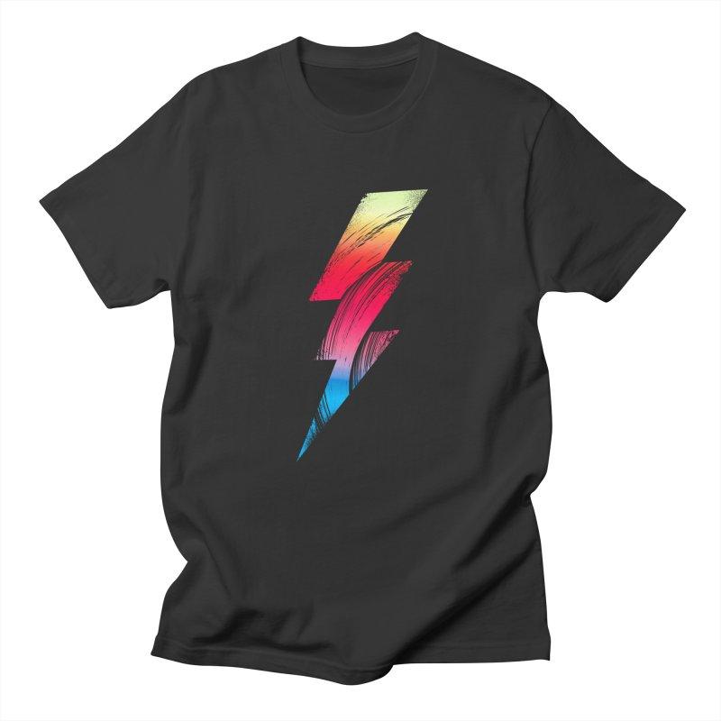 Neon Lightning Men's T-Shirt by Arrivesatten Artist Shop