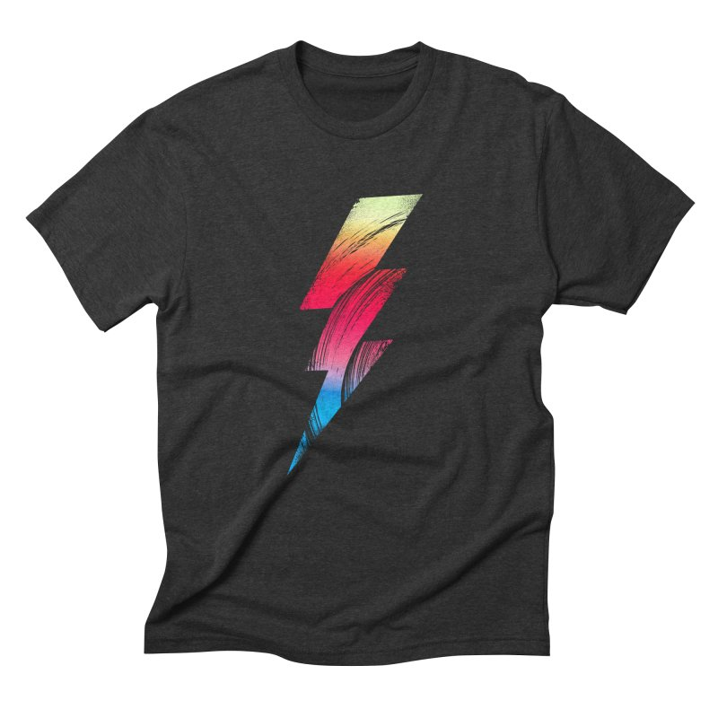 Neon Lightning Men's Triblend T-Shirt by Arrivesatten Artist Shop