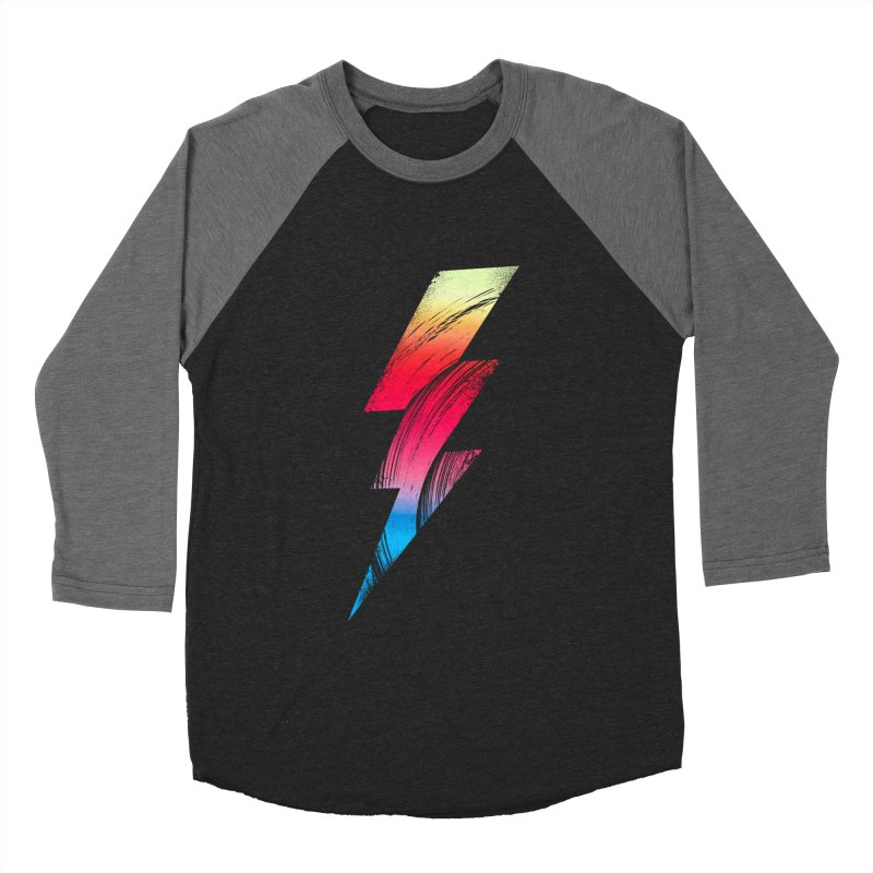 Neon Lightning Men's Baseball Triblend T-Shirt by Arrivesatten Artist Shop