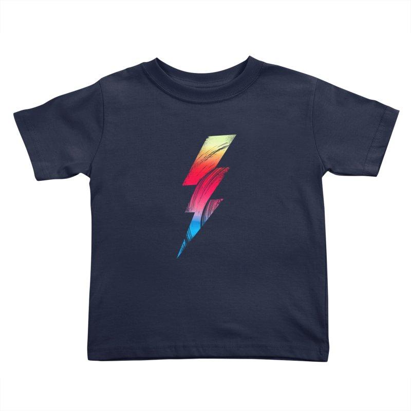 Neon Lightning Kids Toddler T-Shirt by Arrivesatten Artist Shop