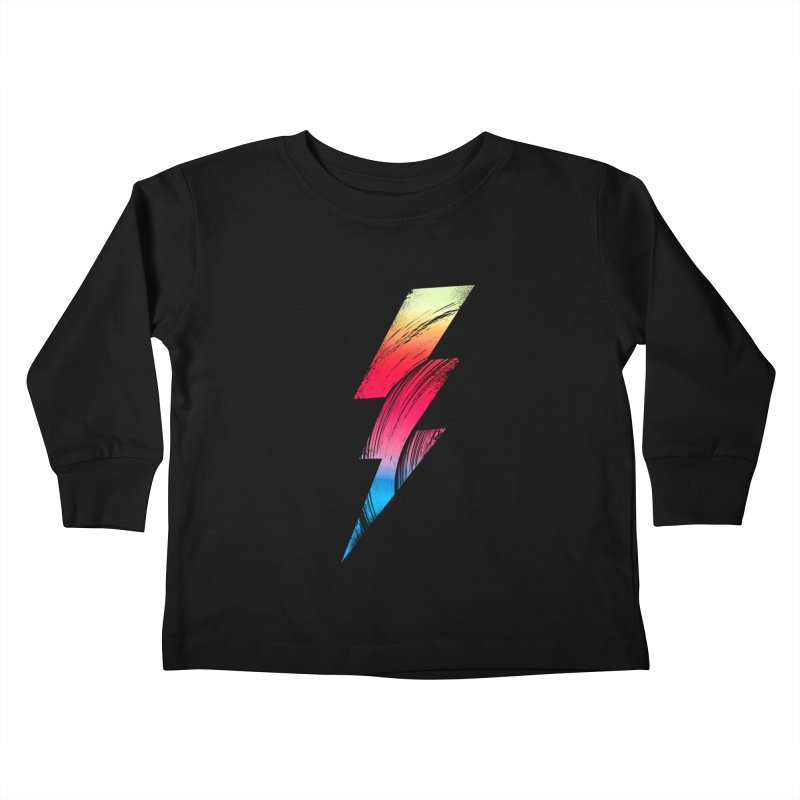 Neon Lightning Kids Toddler Longsleeve T-Shirt by Arrivesatten Artist Shop