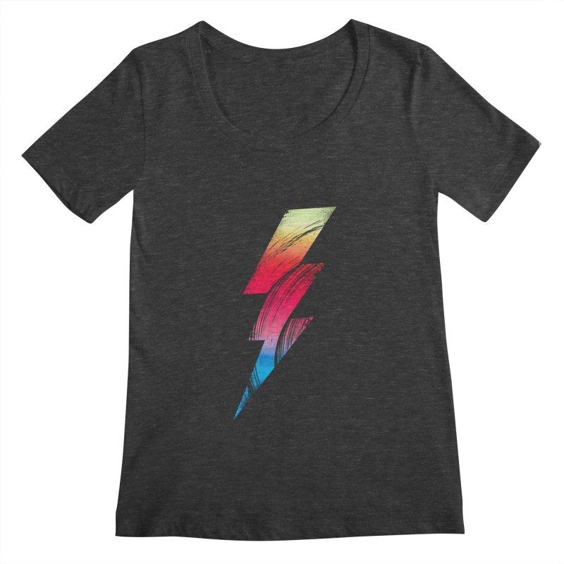 Neon Lightning Women's Scoopneck by Arrivesatten Artist Shop
