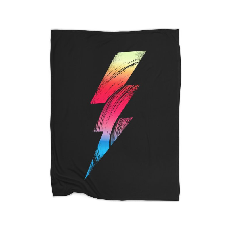 Neon Lightning Home Blanket by Arrivesatten Artist Shop