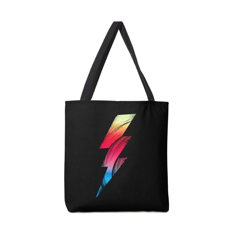 Neon Lightning Accessories Bag by Arrivesatten Artist Shop