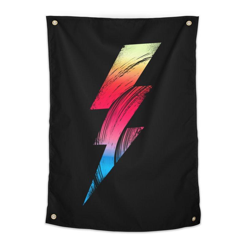 Neon Lightning Home Tapestry by Arrivesatten Artist Shop