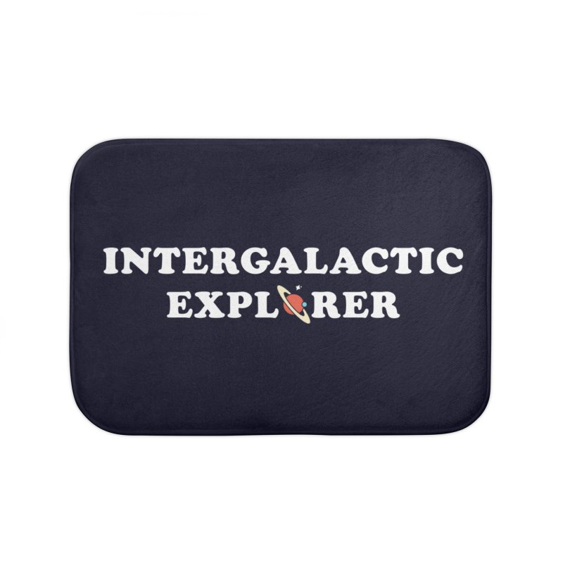 Intergalactic Explorer Home Bath Mat by Arrivesatten Artist Shop