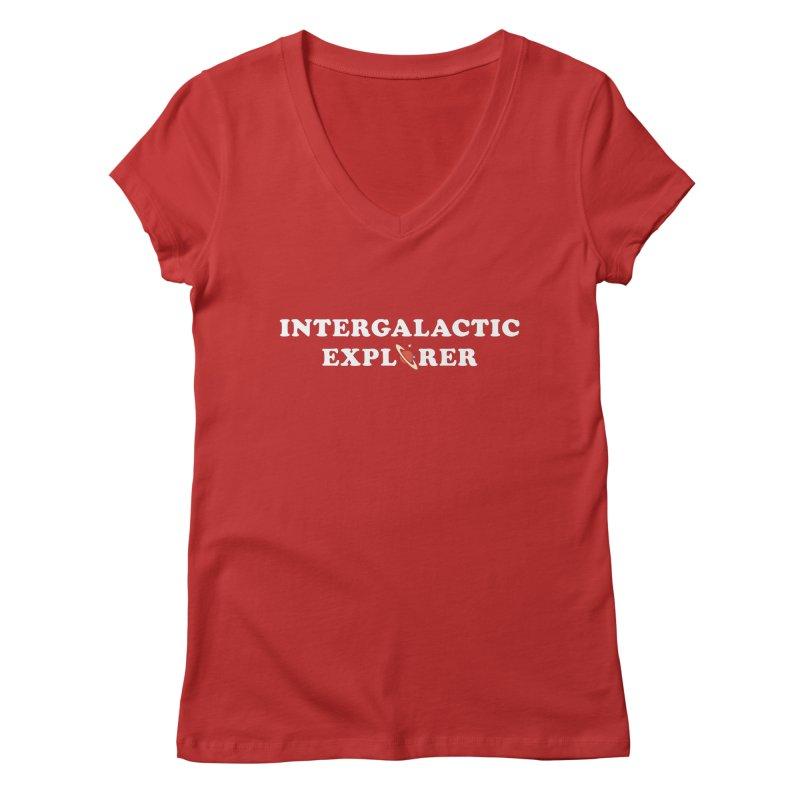 Intergalactic Explorer Women's V-Neck by Arrivesatten Artist Shop