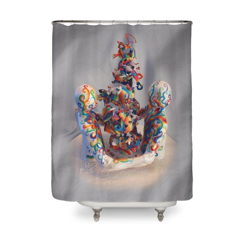 Rainbow Connection Home Shower Curtain by Rainbow Illusion Machine