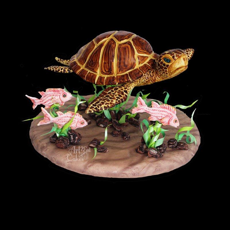 Honu the Sea Turtle Men's T-Shirt by Rainbow Illusion Machine