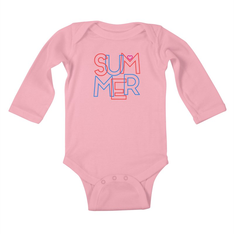 Summer Love Kids Baby Longsleeve Bodysuit by My Shirty Life