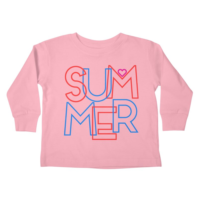 Summer Love Kids Toddler Longsleeve T-Shirt by My Shirty Life