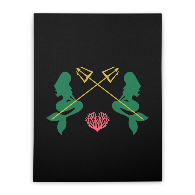 Siren Sisters Home Stretched Canvas by My Shirty Life
