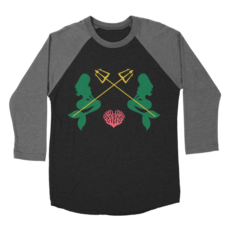 Siren Sisters Women's Baseball Triblend Longsleeve T-Shirt by My Shirty Life