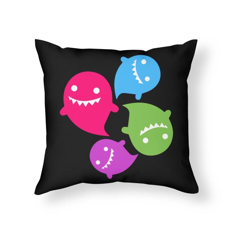 Rainboos v2 Home Throw Pillow by My Shirty Life