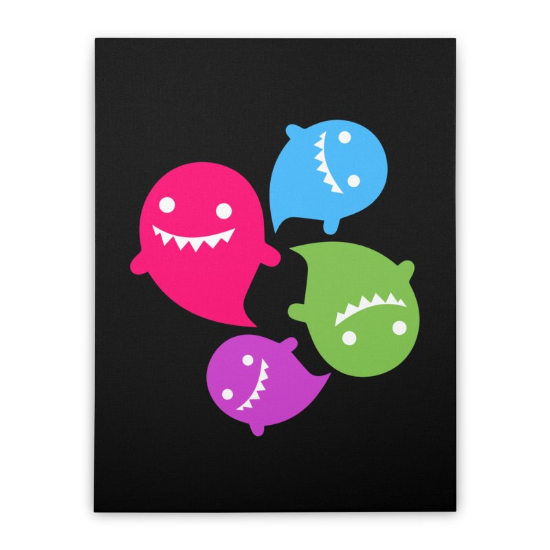 Rainboos v2 Home Stretched Canvas by My Shirty Life