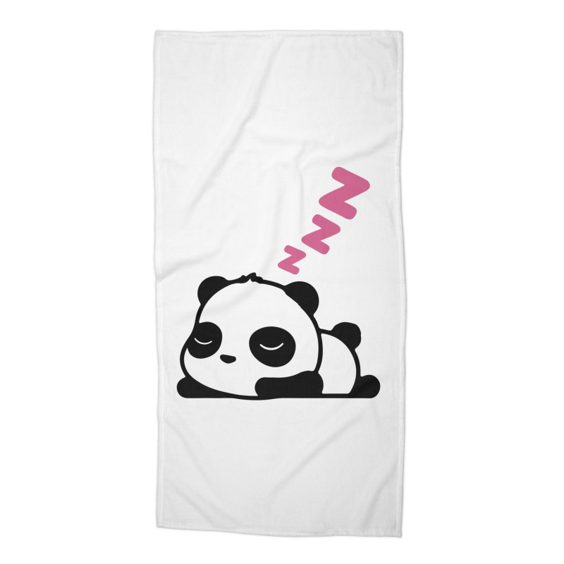 Sleeping Panda - Pink ver. Accessories Beach Towel by My Shirty Life