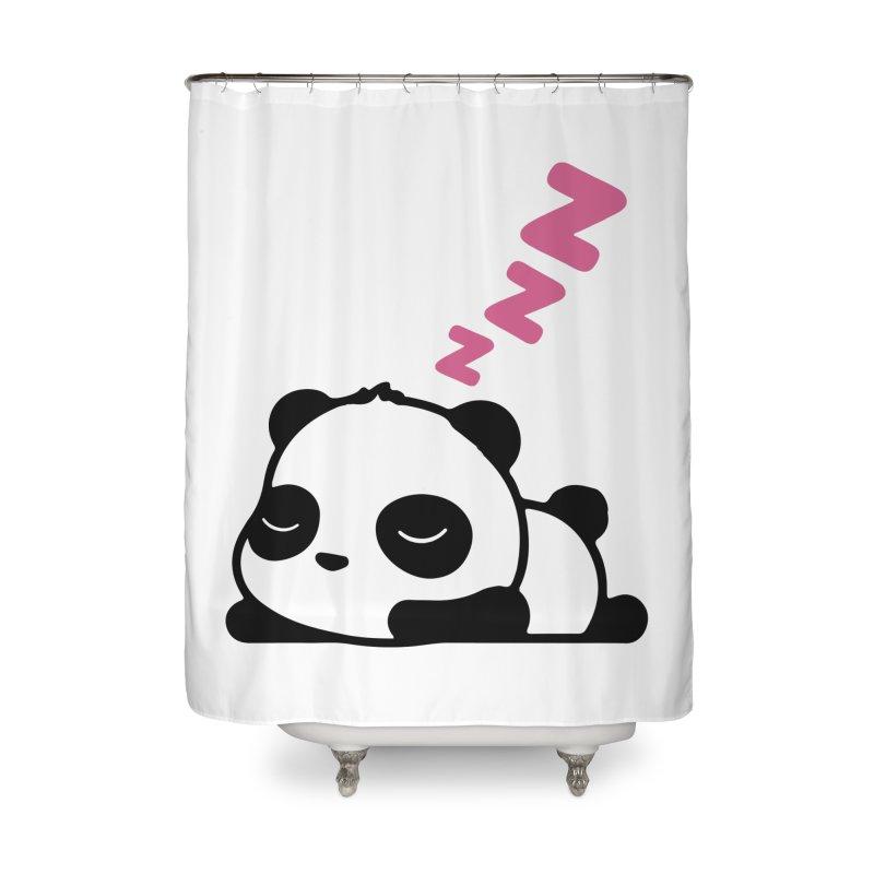 Sleeping Panda - Pink ver. Home Shower Curtain by My Shirty Life