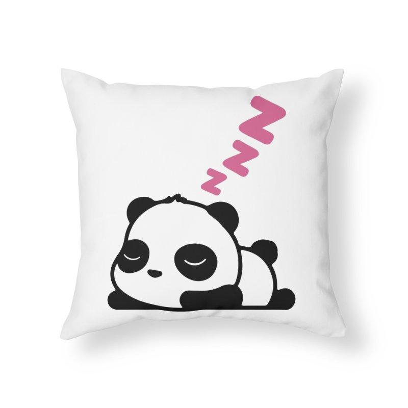 Sleeping Panda - Pink ver. Home Throw Pillow by My Shirty Life
