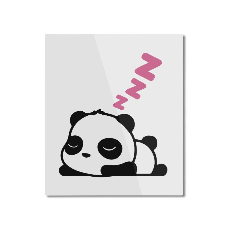 Sleeping Panda - Pink ver. Home Mounted Aluminum Print by My Shirty Life