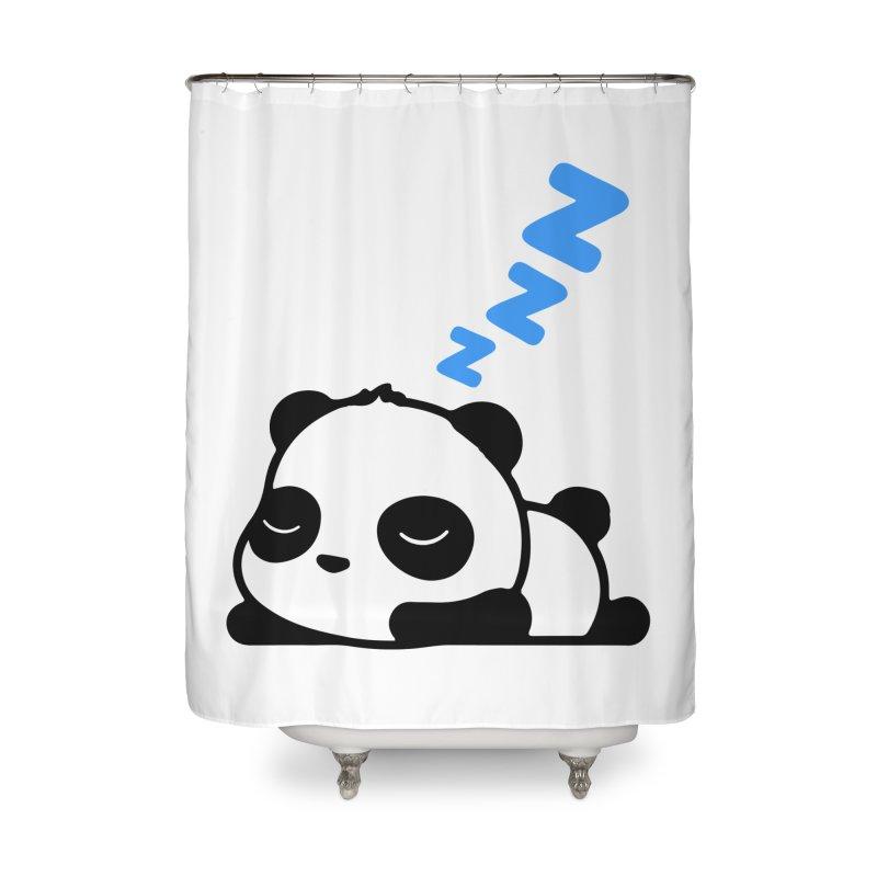 Sleeping Panda - Blue ver. Home Shower Curtain by My Shirty Life