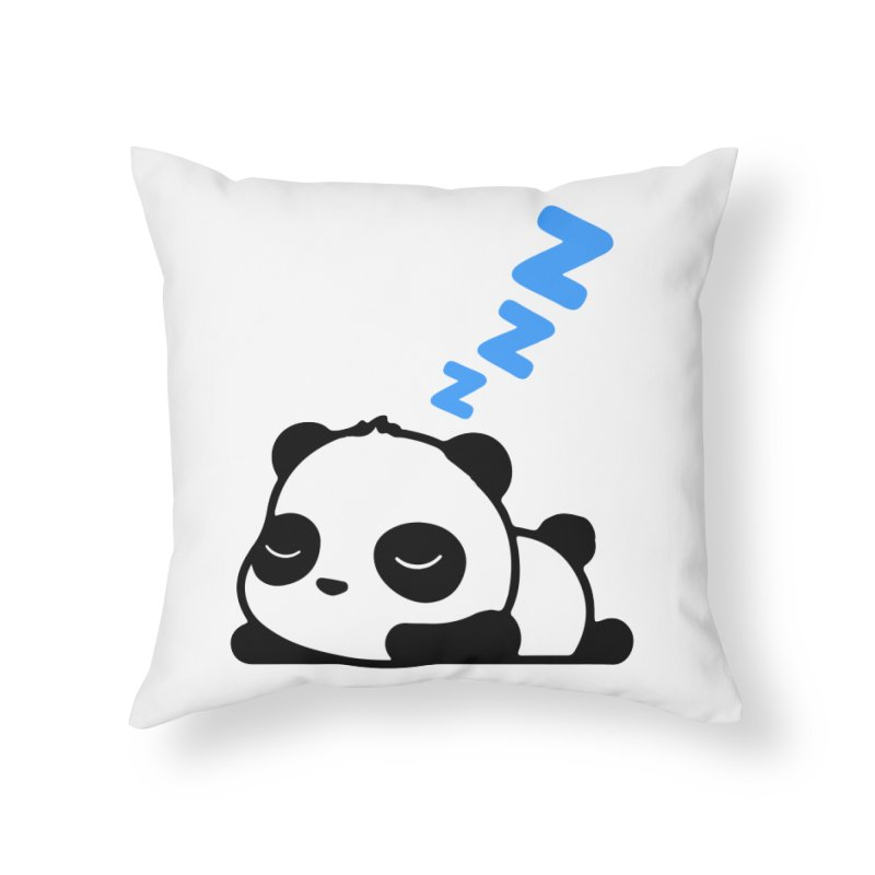Sleeping Panda - Blue ver. Home Throw Pillow by My Shirty Life