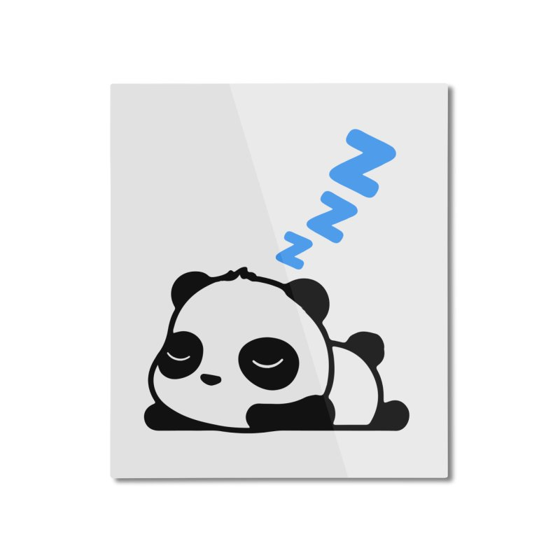 Sleeping Panda - Blue ver. Home Mounted Aluminum Print by My Shirty Life