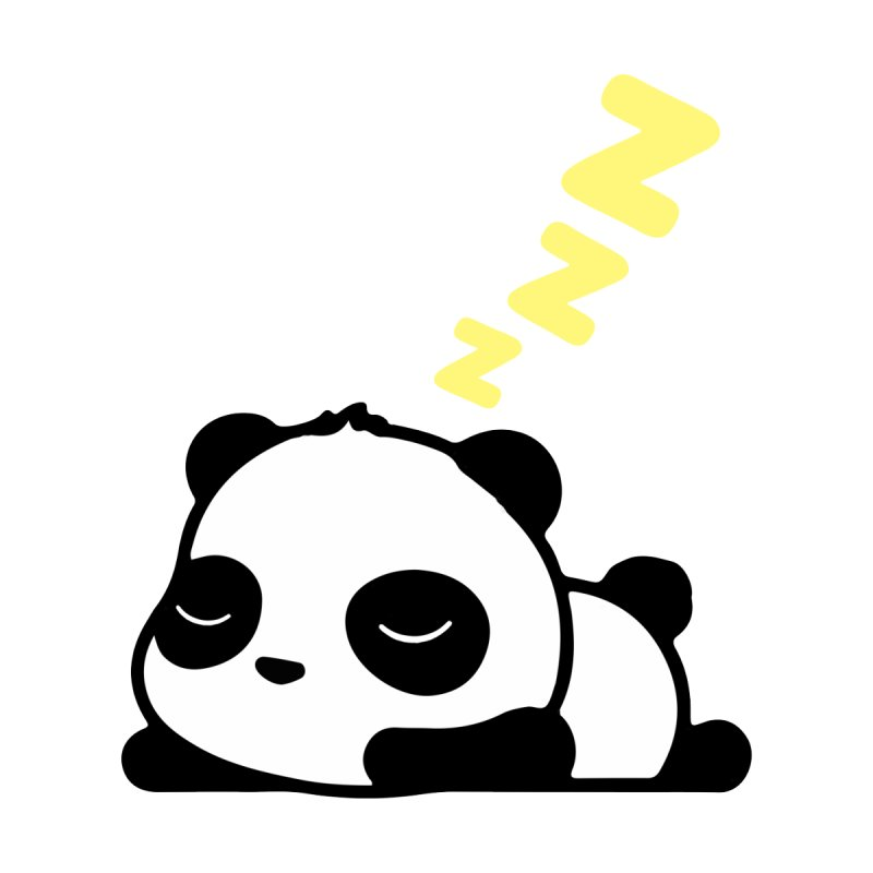 Sleeping Panda - Yellow ver. by My Shirty Life