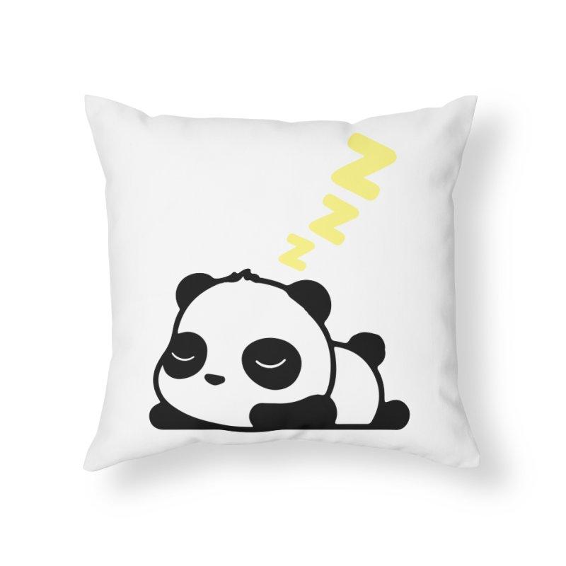 Sleeping Panda - Yellow ver. Home Throw Pillow by My Shirty Life