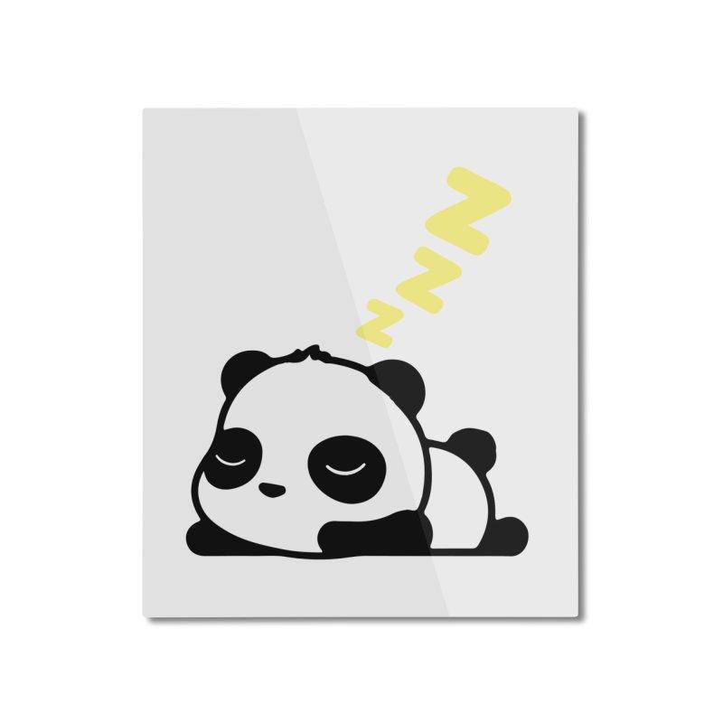Sleeping Panda - Yellow ver. Home Mounted Aluminum Print by My Shirty Life