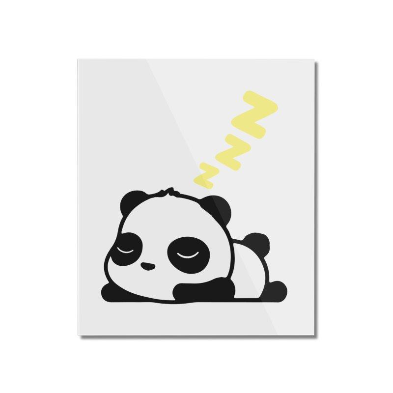 Sleeping Panda - Yellow ver. Home Mounted Acrylic Print by My Shirty Life