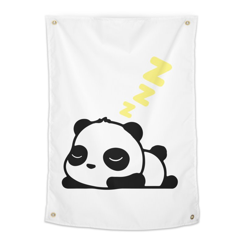 Sleeping Panda - Yellow ver. Home Tapestry by My Shirty Life