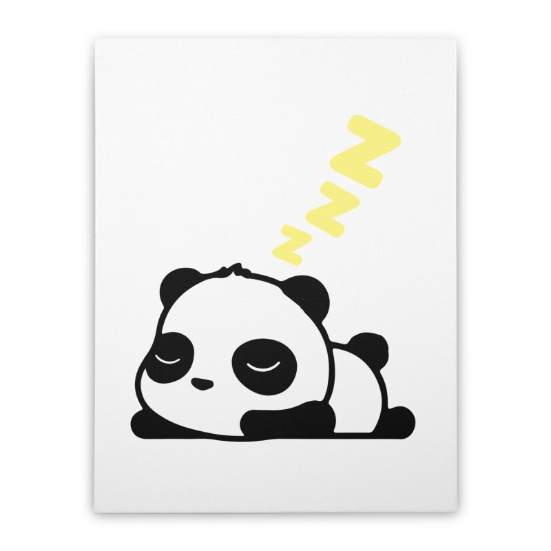 Sleeping Panda - Yellow ver. Home Stretched Canvas by My Shirty Life