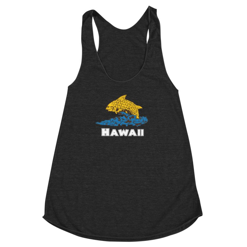 Greetings from Hawaii Women's Racerback Triblend Tank by My Shirty Life