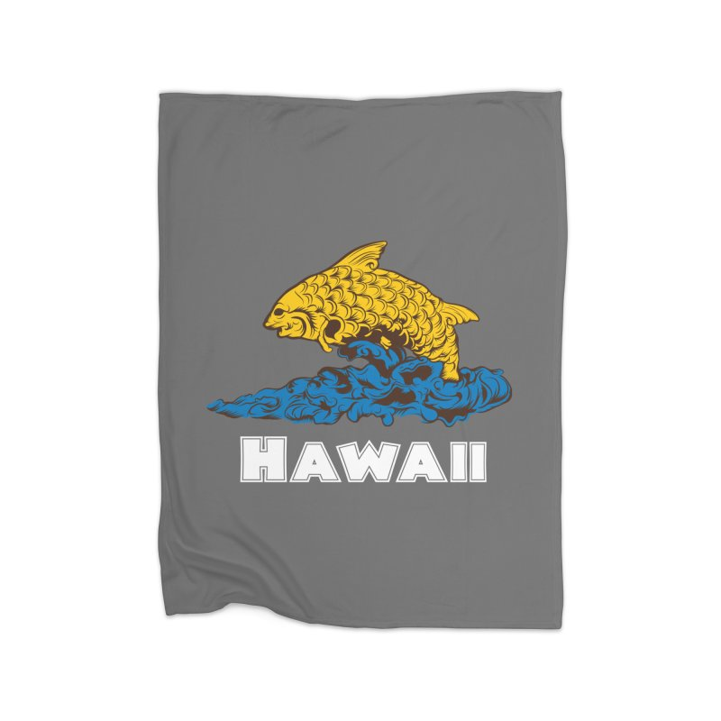 Greetings from Hawaii Home Blanket by My Shirty Life