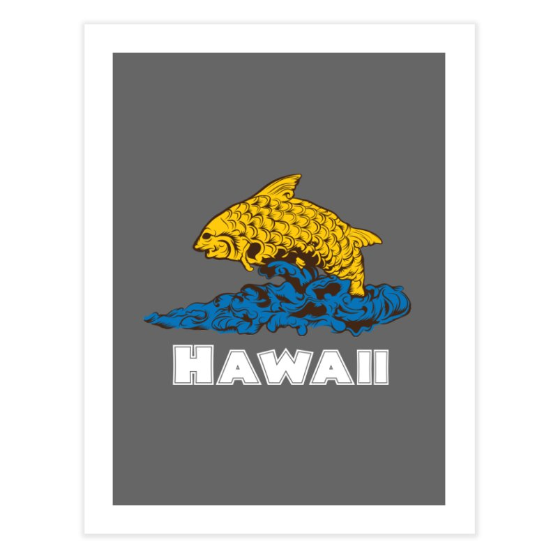 Greetings from Hawaii Home Fine Art Print by My Shirty Life
