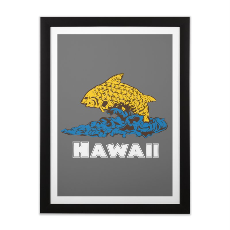 Greetings from Hawaii Home Framed Fine Art Print by My Shirty Life