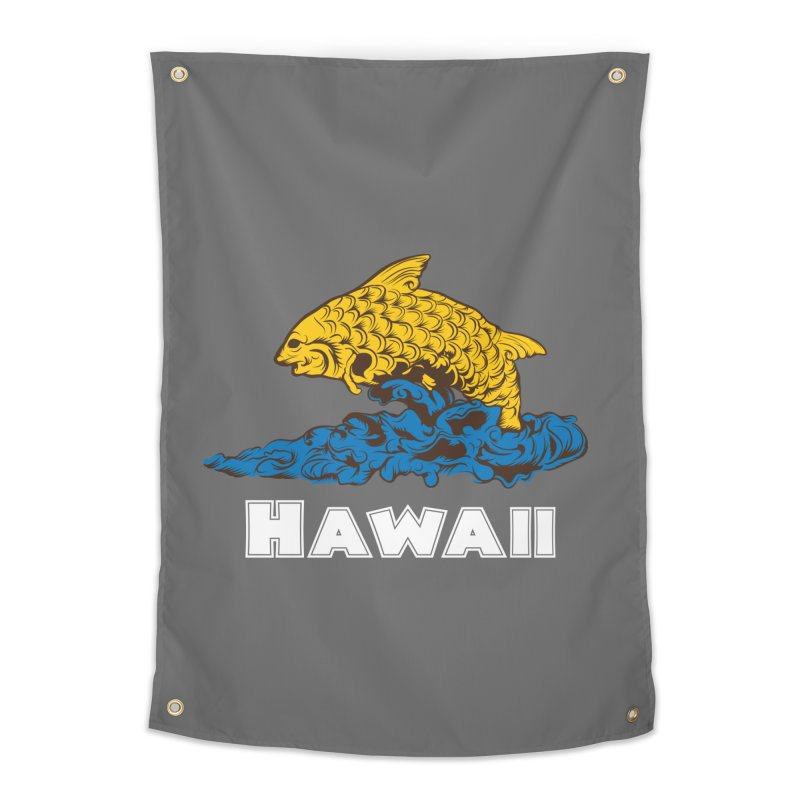 Greetings from Hawaii Home Tapestry by My Shirty Life