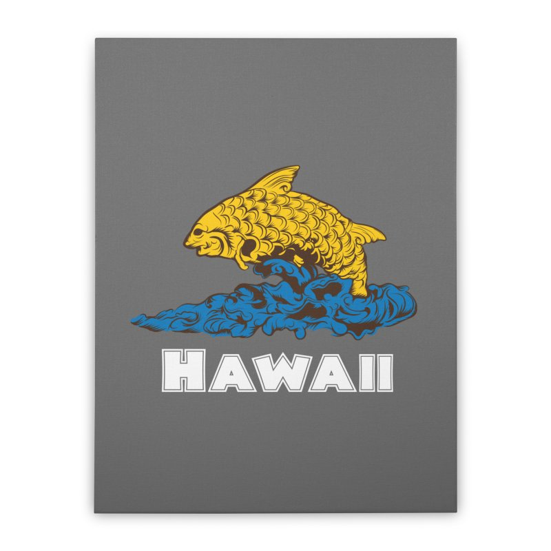 Greetings from Hawaii Home Stretched Canvas by My Shirty Life
