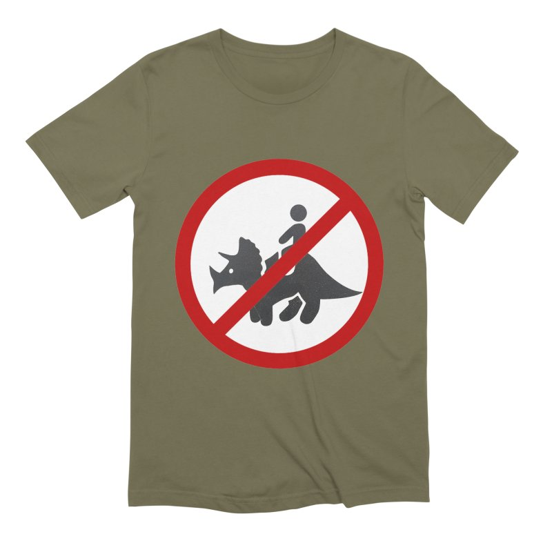 No Dino Rides Men's Extra Soft T-Shirt by My Shirty Life