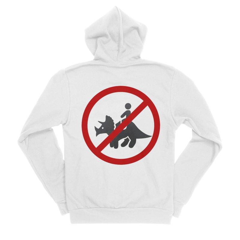 No Dino Rides Men's Sponge Fleece Zip-Up Hoody by My Shirty Life