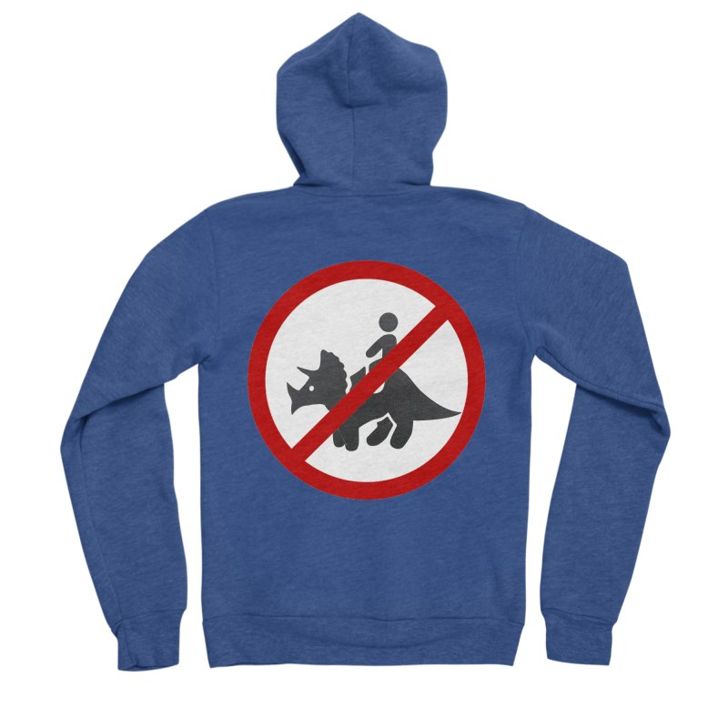 No Dino Rides Men's Sponge Fleece Zip-Up Hoody by My Shirty Life
