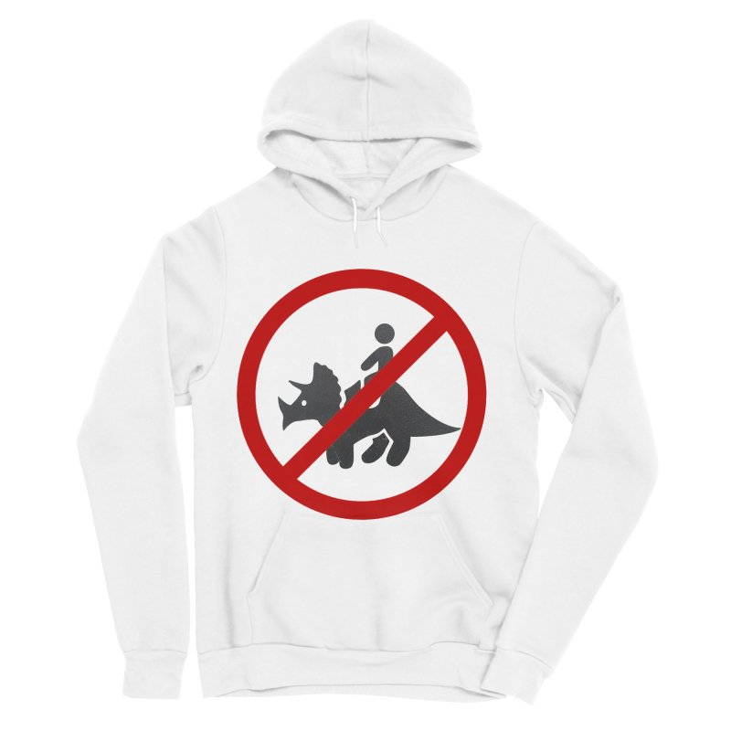 No Dino Rides Men's Sponge Fleece Pullover Hoody by My Shirty Life