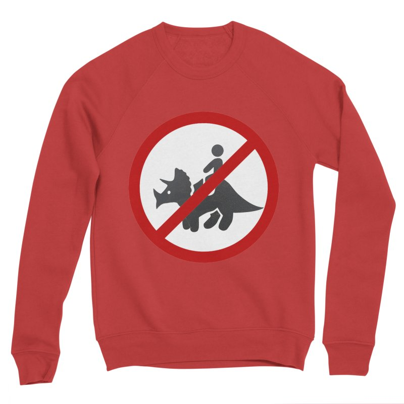 No Dino Rides Men's Sponge Fleece Sweatshirt by My Shirty Life