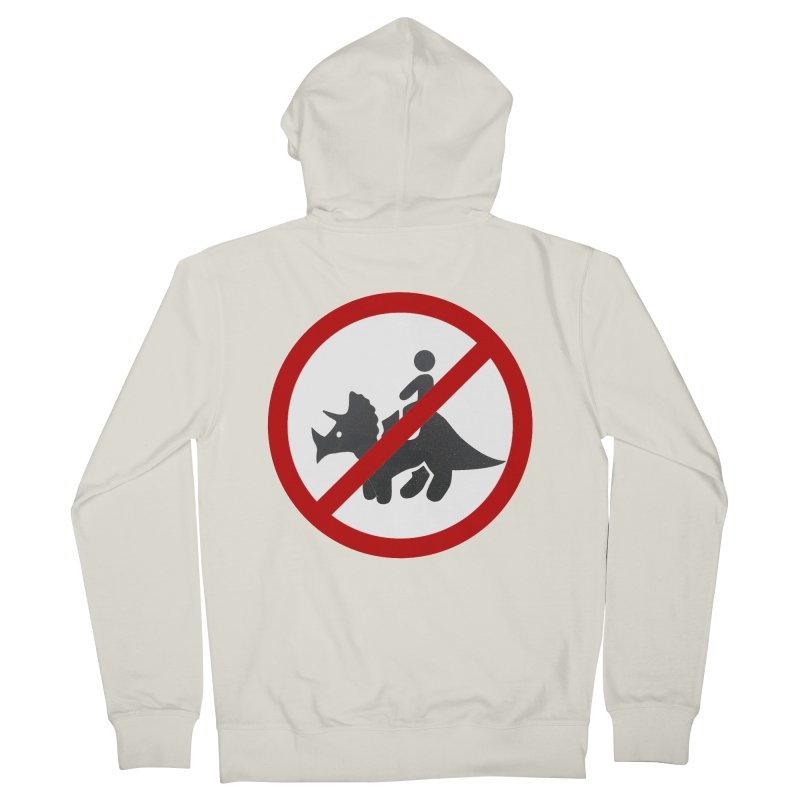 No Dino Rides Women's French Terry Zip-Up Hoody by My Shirty Life